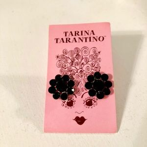 Tarina Tarantino Black Crystal Earrings